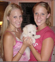 Kendra, Brie, and Puppy